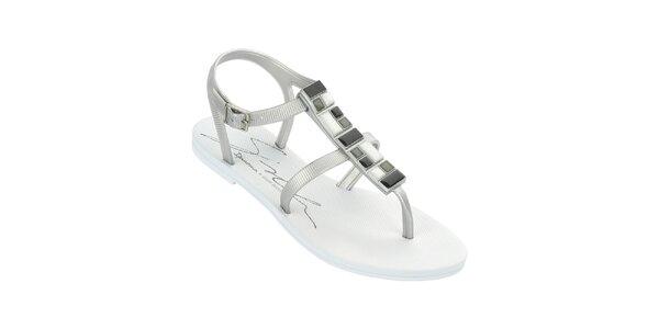 Dámske biele sandále so zdobeným remienkom Ipanema