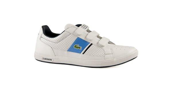 Bielo-modré kožené tenisky Lacoste