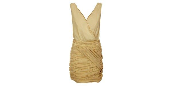 Dámske svetlo béžové šaty Lucy Paris