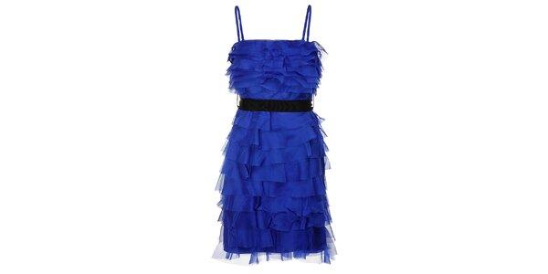 Dámske sýto modré charlestonové šaty Lucy Paris