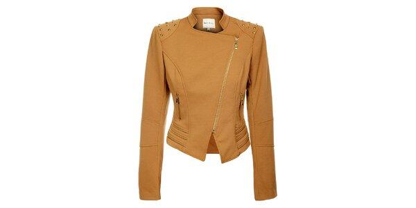 Dámsky svetlo hnedý kabátik Lucy Paris