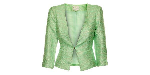 Dámske pastelovo zelené sako Lucy Paris