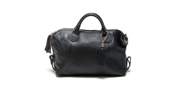 Dámska čierna kabelka so strapcami Mangotti