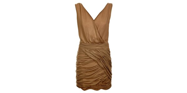 Dámske čokoládovo hnedé šaty Lucy Paris