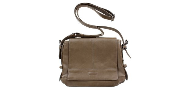 Dámska hnedobéžová kabelka s dlhým popruhom cez rameno Levis
