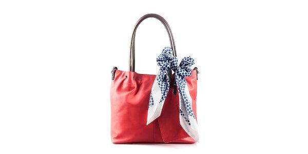 Dámska korálová kabelka so šatkou Belle & Bloom