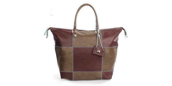 Dámska kockovaná kabelka Gorétt