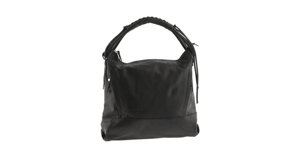 Dámska kožená kabelka Classe Regina - čierna