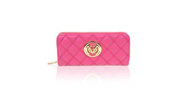 Dámska prešívaná peňaženka v ružovej farbe Giorgio di Mare
