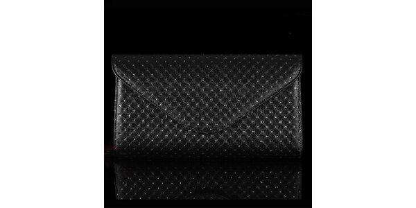Dámska čierna vzorovaná listová kabelka Felice