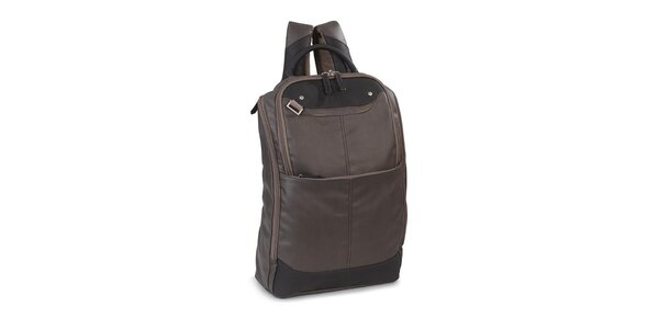 Šedý ľahký ruksak s ružovými prvkami Esprit