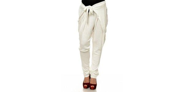 Dámske biele zaväzovacie háremové nohavice Joseph Alessander