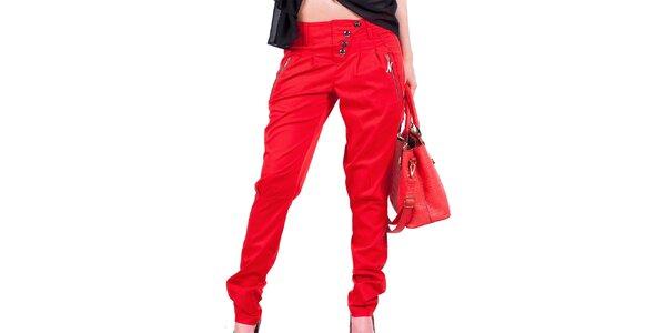 Dámske červené nohavice Nelita
