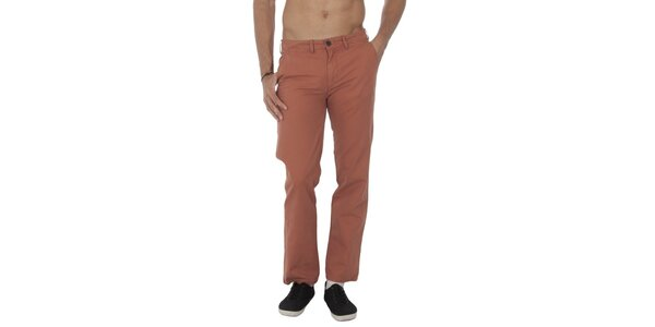 Pánske tehlové nohavice Tommy Hilfiger