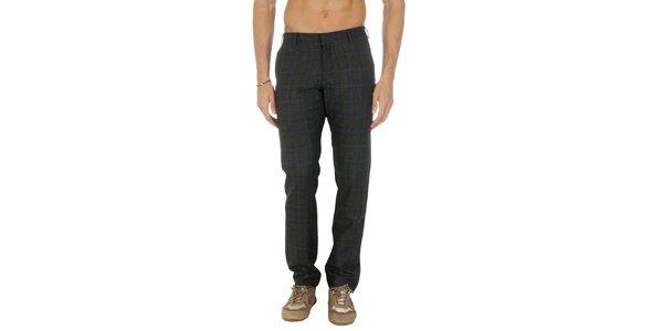 Pánske šedé kárované nohavice Tommy Hilfiger