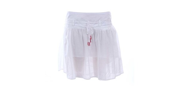Dámska biela sukňa so zaväzovaním Timeout
