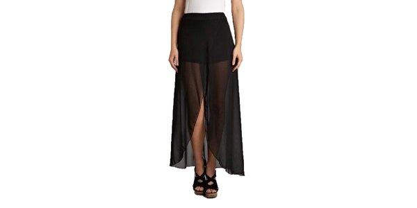 Dámska čierna dvojvrstvová sukňa Pepper Tree