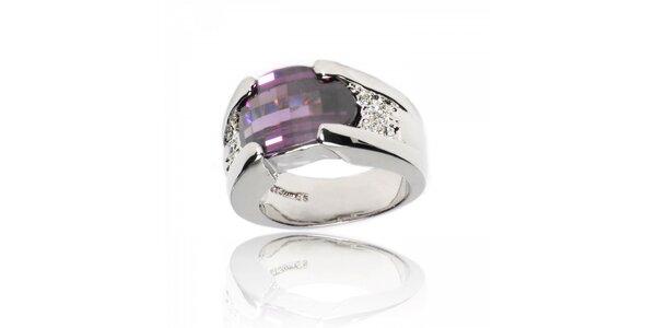 Dámsky prsteň Bague a Dames s velkým fialovým kryštálom