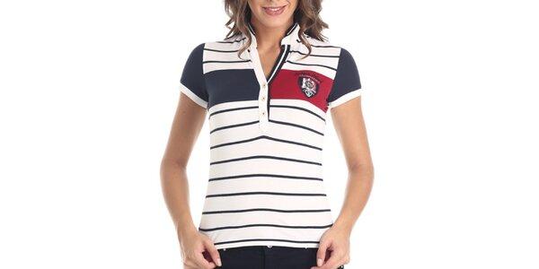 Dámske pruhované tričko Galvanni