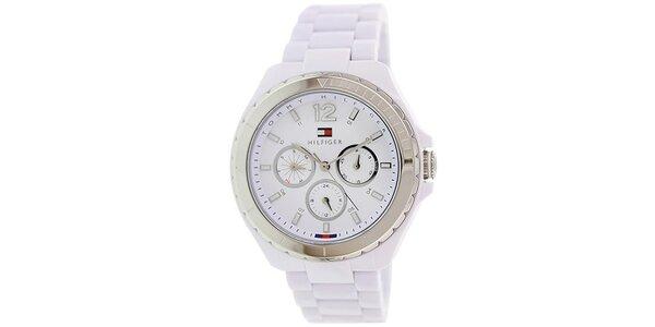 Dámske biele analogové hodinky Tommy Hilfiger