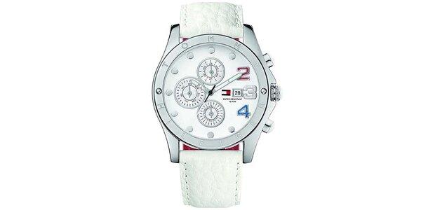 Dámske biele hodinky s farebnými číslicami Tommy Hilfiger