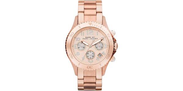 Dámske pozlátené hodinky s chronografom Marc Jacobs