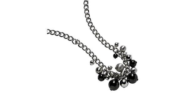 Dámsky náhrdelník s guličkovými príveskami DKNY