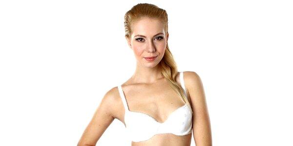 Dámska biela podprsenka s bodkami DKNY