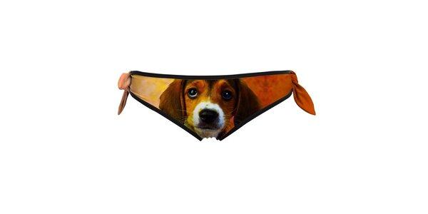 Dámske plavkové nohavičky so psíkom Mr. GUGU & Ms. GO