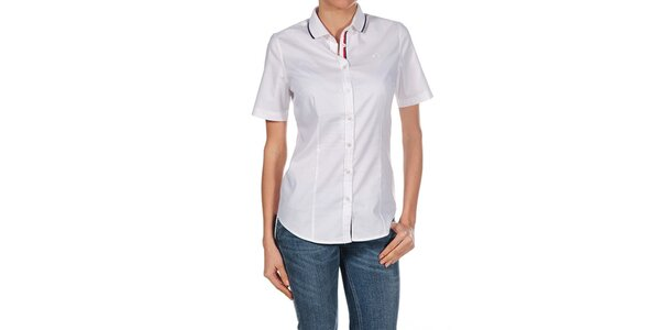 Dámska biela košeľa s krátkym rukávom Fred Perry
