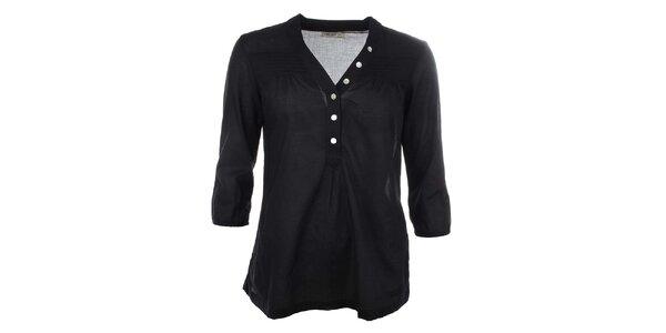Dámska čierna bavlnená košeľa Timeout