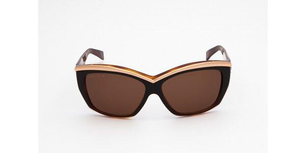 Dámske jantarovo-béžové slnečné okuliare D-Squared