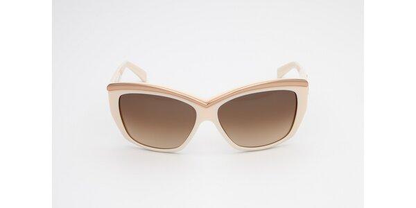Dámske krémovo-medené slnečné okuliare D-Squared