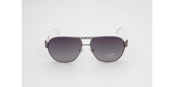 Dámske šedo-biele slnečné okuliare Guess