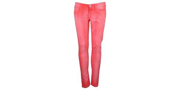 Dámske ružovo-červené skinny Pepe Jeans