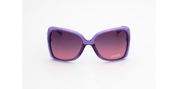 Dámske fialovo-hnedé slnečné okuliare Guess