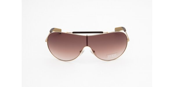Dámske zlato-hnedé slnečné okuliare Guess