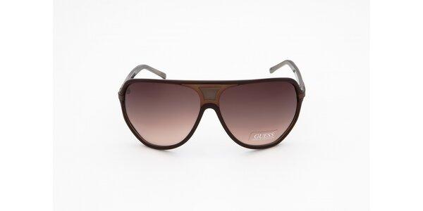 Dámske hnedé slnečné okuliare Guess