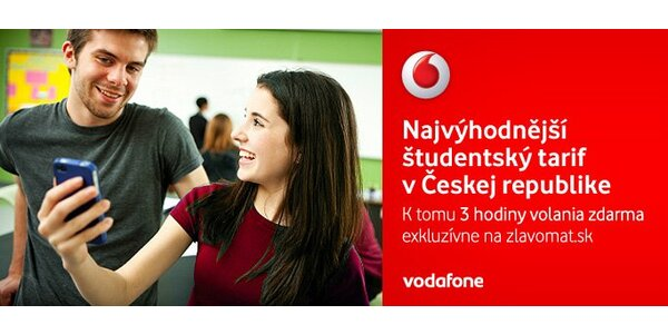 Študentský paušál od Vodafone - získaj volanie, SMS a internet v mobile.