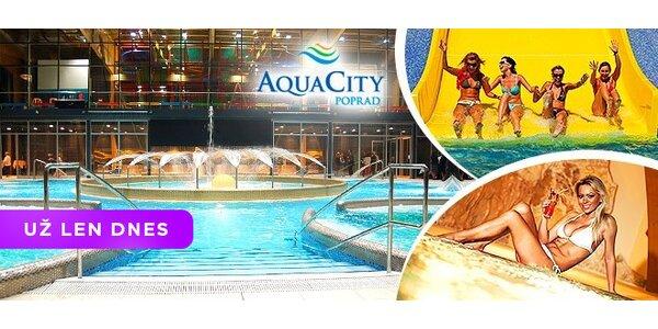 Celý deň v AquaCity Poprad a relax vo wellness