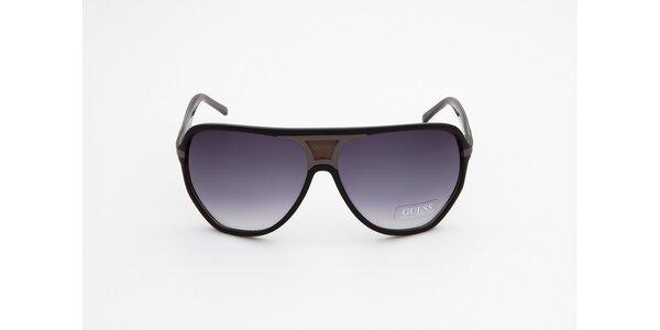 Dámske čierne slnečné okuliare Guess