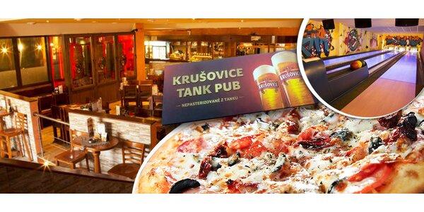 Veľká pizza podľa výberu a bowling