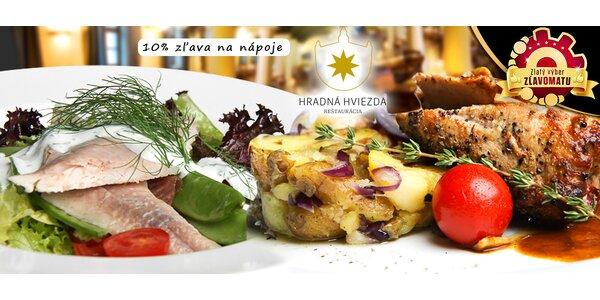Fantastické trojchodové menu v centre Bratislavy
