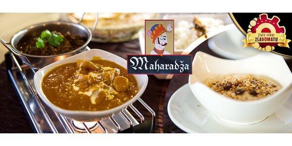 Indické exotické trojchodové menu pre dvoch