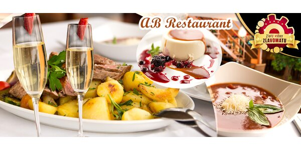 Degustačné romantické menu v AB Restaurant pre 2