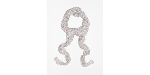 Dámska biela šatka s jemným vzorom Bella Rosa