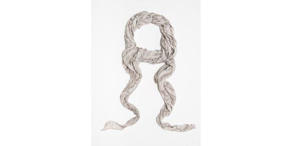 Dámska šedá šatka so vzorom Bella Rosa