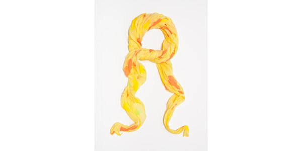 Dámska žltá šatka s potlačou hviezdičiek Bella Rosa
