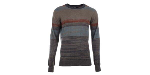 Pánsky sveter s farebnými žíhanými pruhmi Big Star