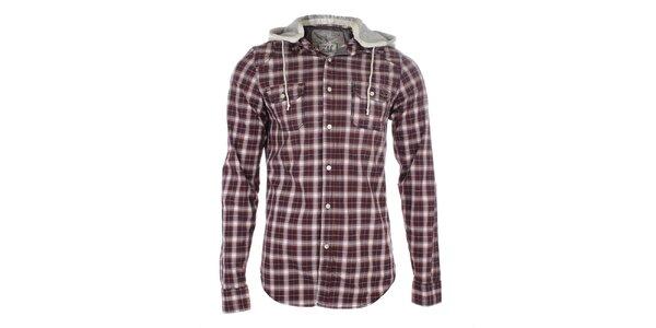Pánska kockovaná košeľa s kapucňou Zu Elements